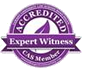 accredited expert witness logo